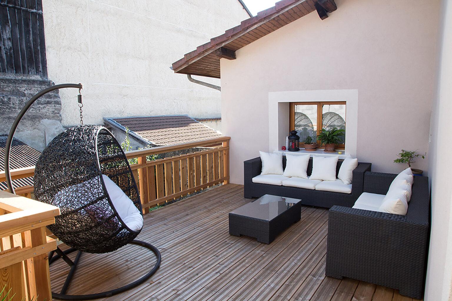 construction d'une terrasse et création d'ouvertures en facade dans le gresivaudan